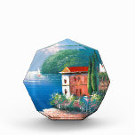 Painting Of A Seaside Villa In Italy Awards
