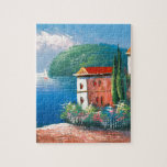 Painting Of A Seaside Villa In Italy Jigsaw Puzzle