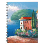 Painting Of A Seaside Villa In Italy Spiral Notebook