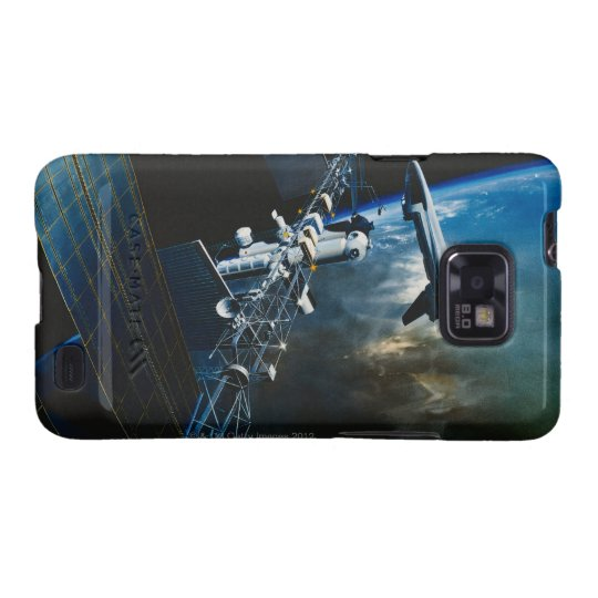 Painting of a Space Station Above Earth Galaxy SII Cover