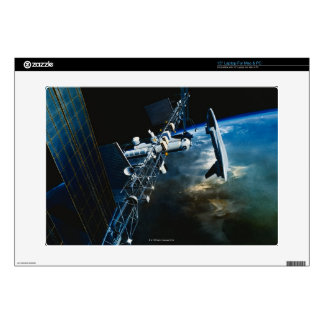 """Painting of a Space Station Above Earth Skins For 15"""" Laptops"""