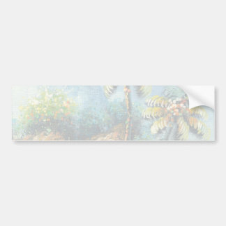 Painting Of A Tropical Waterfall Bumper Sticker