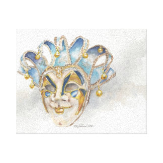 Painting of a Venitian Mask by Mary Dunham Walters Canvas Print