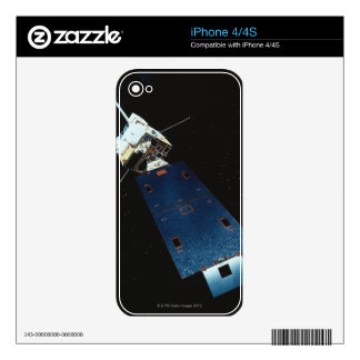 Painting of a Weather Satellite Skins For The iPhone 4