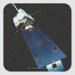 Painting of a Weather Satellite Square Sticker