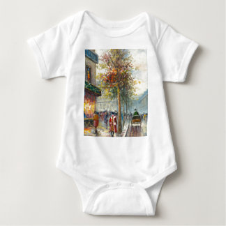 Painting Of An 1890's Fall Street Scene T Shirt