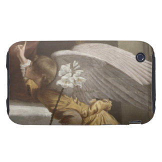 Painting of an angel pointing tough iPhone 3 cover