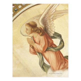 Painting of an angel praying postcard