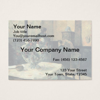 Painting of an Interior at Rue Carcel - 1881 Business Card