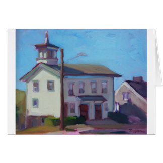 Painting of an Old Firehouse Greeting Card
