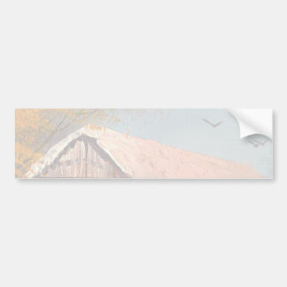Painting Of An Old Pennsylvania Covered Bridge Bumper Sticker