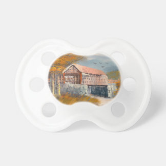 Painting Of An Old Pennsylvania Covered Bridge Pacifiers