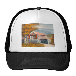 Painting Of An Old Pennsylvania Covered Bridge Trucker Hat