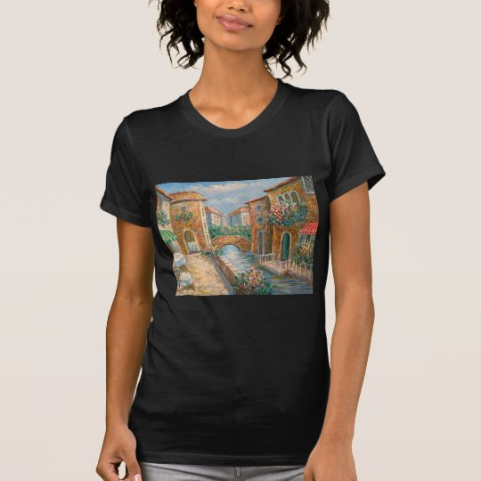 Painting Of An Old-Time Venice Street T-Shirt