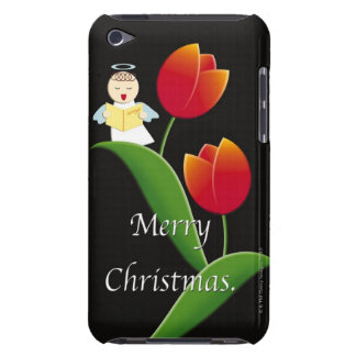 Painting of angel singing and tulipes, Case-Mate iPod touch case
