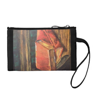 Painting of books coin purse