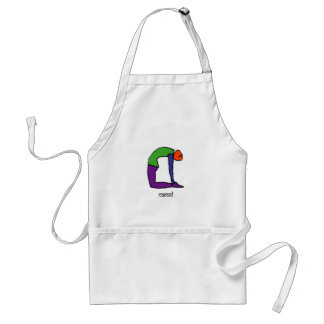 Painting of camel yoga pose with Sanskrit text Adult Apron