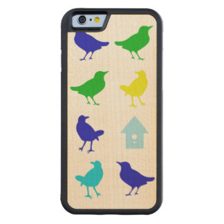 Painting of Colored Birds by Chariklia Zarris Carved Maple iPhone 6 Bumper Case