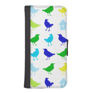 Painting of Colored Birds by Chariklia Zarris iPhone SE/5/5s Wallet Case
