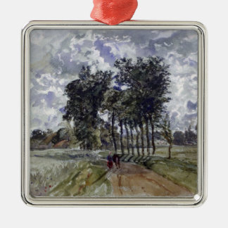 Painting of Countryside Metal Ornament