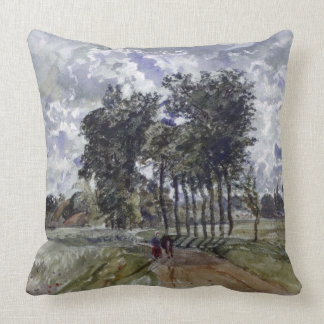 Painting of Countryside Throw Pillow