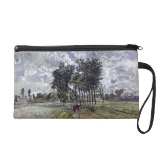 Painting of Countryside Wristlet Purse