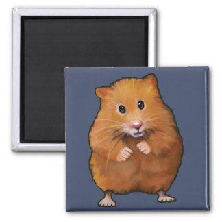 Painting of Cute Hamster: Original Art Fridge Magnet
