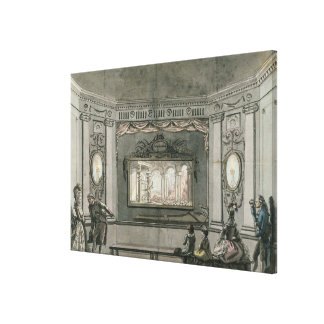 Painting of de Loutherbourg's Eido Phusikon showin Canvas Print