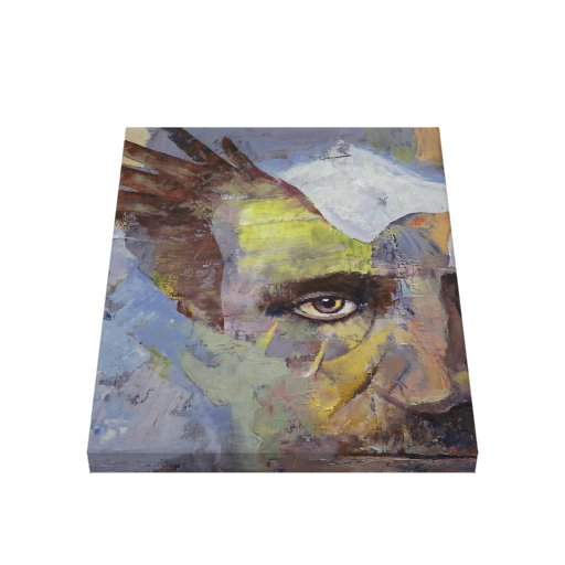 Painting of Edgar Allan Poe Gallery Wrapped Canvas