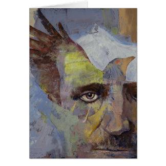 Painting of Edgar Allan Poe Card