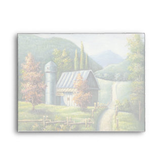 Painting Of Farm Country Dirt Road In Late Summer Envelopes