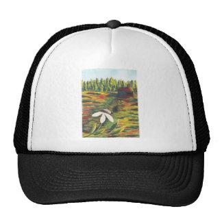 Painting of Flower Meadow & Shack Hat