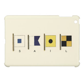 Painting of Four Flags with Sail Written Beneath iPad Mini Cover