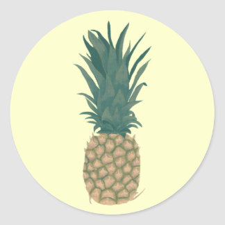 Painting of fresh pineapple by CherylsArt Stickers