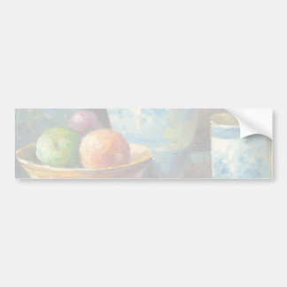 Painting Of Fruit And Pottery Vessels Bumper Sticker