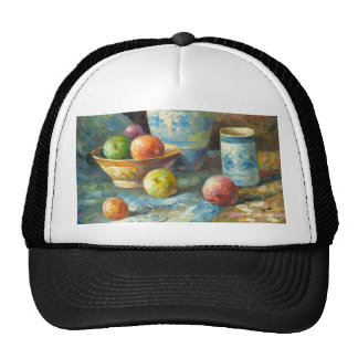 Painting Of Fruit And Pottery Vessels Trucker Hats