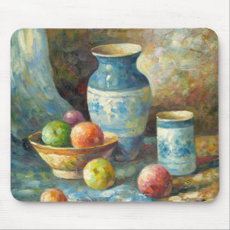 Painting Of Fruit And Pottery Vessels Mouse Pad