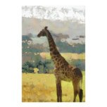 Painting of Giraffe on the Savannah in Africa Stationery
