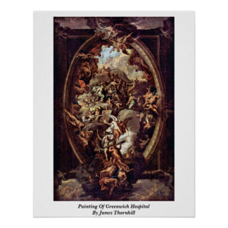 Painting Of Greenwich Hospital By James Thornhill Posters