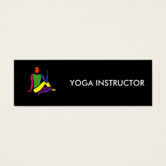 Painting of half lord of the fishes yoga pose. mini business card