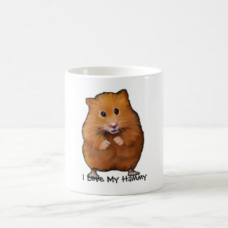 Painting of HAMSTER, I Love My Hammy Coffee Mug
