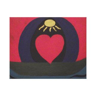 Painting of Hope,Love,Unity,Faith. Canvas Print