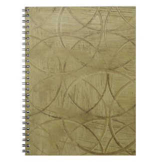 Painting of Linked Circles by Jennifer Goldberger Spiral Note Book
