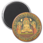 Painting of Mahavira Fridge Magnet