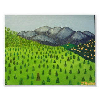 Painting of Mount Baldy by Julia Hanna Photo Print
