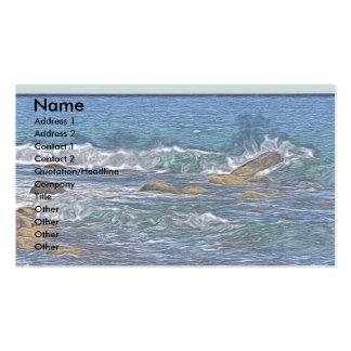 Painting of Ocean Rocks Business Card