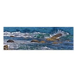 Painting of Ocean Rocks Mini Business Card