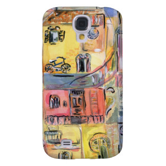 Painting of old city samsung s4 case