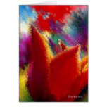 Painting of Orange Tulip Greeting Card Cards