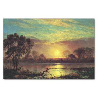 """Painting of Owens Lake, California 10"""" X 15"""" Tissue Paper"""